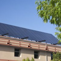 Solar Array System on a Building Photo in Canberra